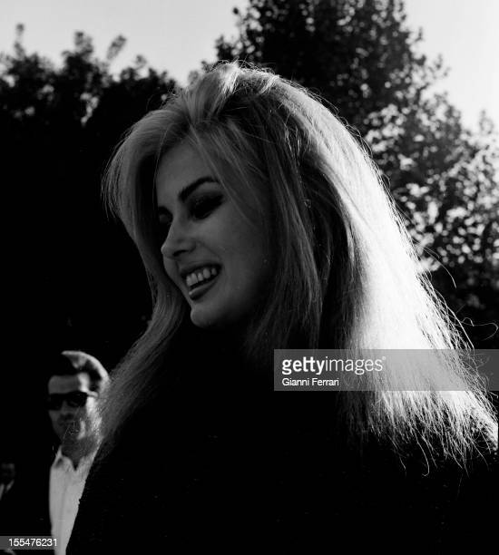 A portrait of the American actress Pamela Tiffin during a visit to the 'Prado Museum ' Madrid Castilla La Mancha Spain
