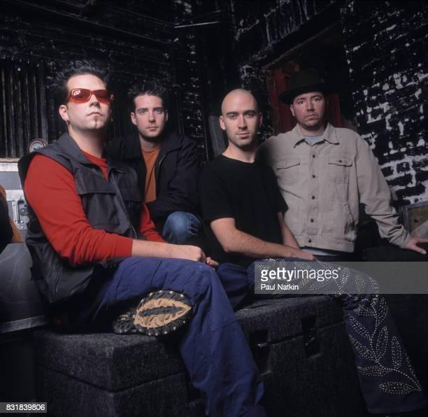 Portrait of the American alternative rock band Live drummer Chad Gracey bassist Patrick Dahlheimer guitarist Ed Kowalczyk and lead guitarist Chad...