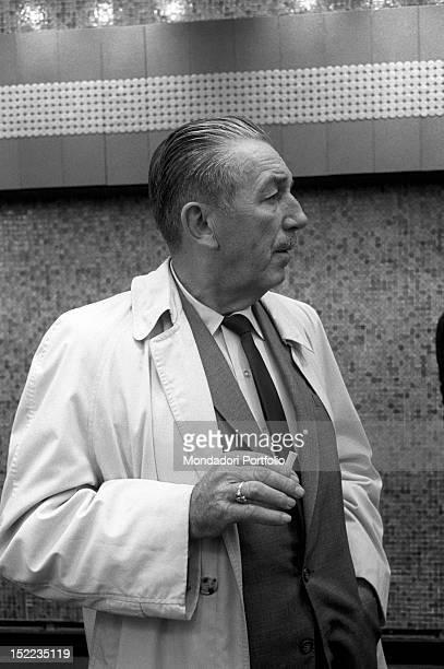 Portrait of the American entrepreneur and director Walt Disney at New York's World Fair New York 1960s