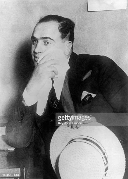 Portrait of the American outlaw and alcohol trafficker Al CAPONE during his trial in Chicago in October 1931 The gangster who had set up a major...