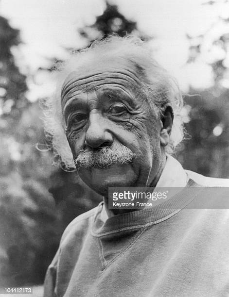 A 1951 portrait of the American professor of German origin Albert EINSTEIN at home in the United States