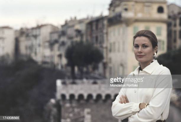 Portrait of the american writer Mary McCarthy during a congress of the PEN Club in Venice. Venice, Italy, 1983.