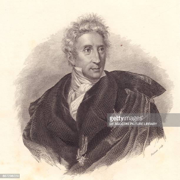 Portrait of the art historian Leopoldo Cicognara copper engraving by Fusinati from a portrait by Lipparini from Iconografia italiana degli uomini e...