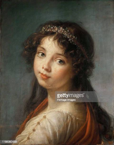 Portrait of the artist's Daughter , 1792. Found in the Collection of Pinacoteca Nazionale di Bologna. Artist Vigée Le Brun, Louise Élisabeth .