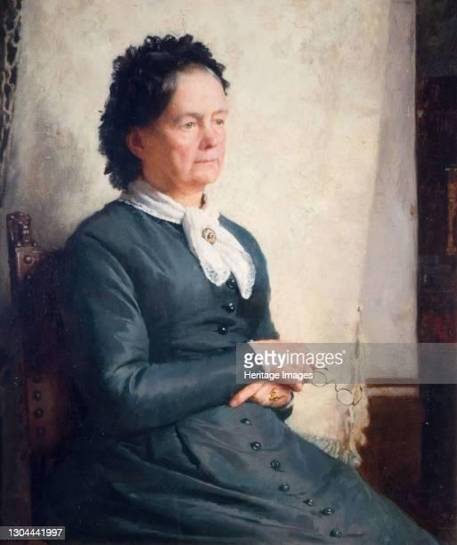 Portrait Of The Artist's Mother, 1885. Artist Charles Gogin.
