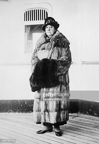 Portrait Of The Australian Contralto On The Deck Of The Steamer Caronia On His Arrival At Liverpool The Chef Auguste Escoffier Created A Tribute To...