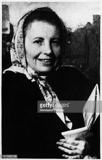 Portrait of the Austrian analyst Anna Freud, daughter of Sigmund Freud. 1950s