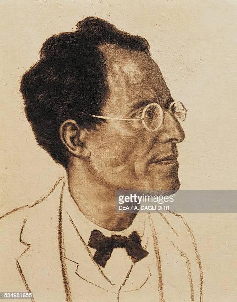Portrait of the Austrian composer and conductor Gustav Mahler Detail Vienna Historisches Museum Der Stadt Wien