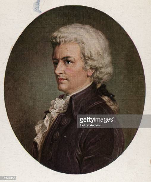 Portrait of the Austrian composer Wolfgang Amadeus Mozart