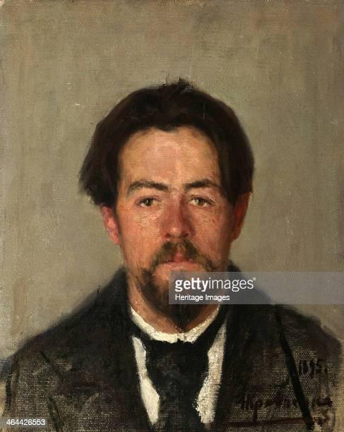 Portrait of the author Anton Chekhov' 1895 Kravchenko Nikolai Ivanovich Found in the collection of the Institut of Russian Literature IRLI St...