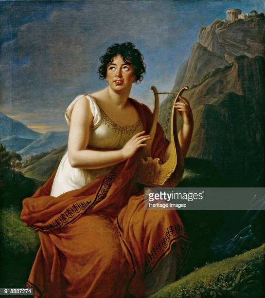 Portrait of the author Baronne Anne Louise Germaine de Staël as Corinne on Cape Misenum 1809 Found in the collection of Musée d'art et d'histoire Genf