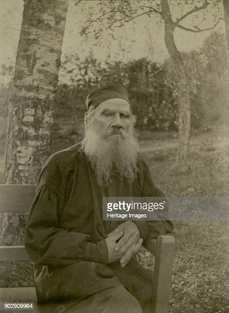 Portrait of the author Count Lev Nikolayevich Tolstoy . Found in the Collection of State Museum of Leo Tolstoy, Moscow.