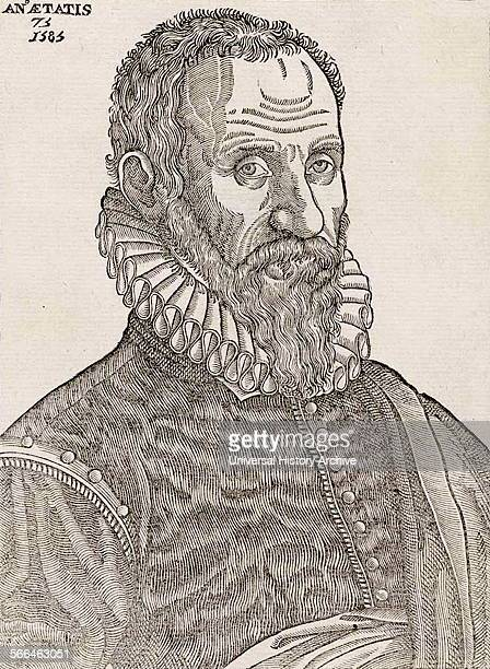 Portrait of the author from 'Les oeuures d'Ambroise Pare´' 1585 by Ambroise Pare´ 15101590 French surgeon and anatomist
