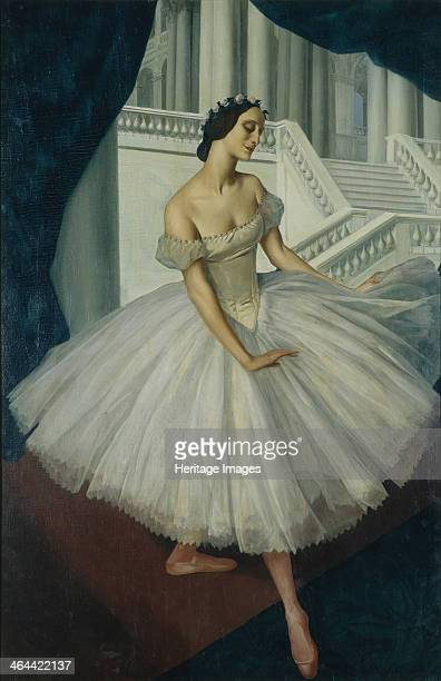 Portrait of the ballerina Anna Pavlova 1924 Found in the collection of the State Tretyakov Gallery Moscow