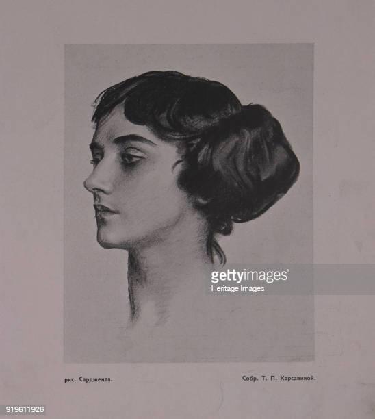 Portrait of the Ballet dancer Tamara Karsavina 1914 Private Collection