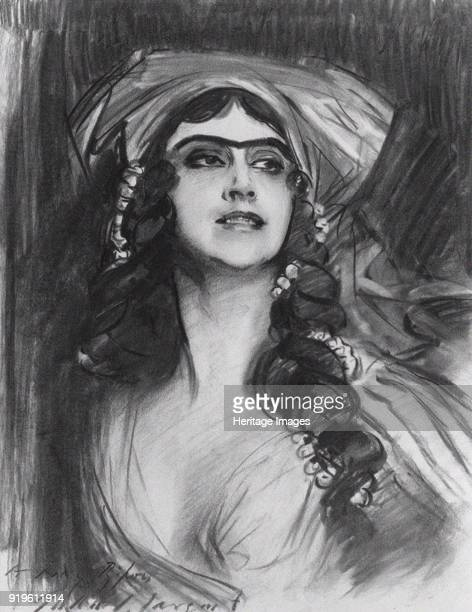 Portrait of the Ballet dancer Tamara Karsavina as Thamar in the ballet Thamar by MA Balakirev 19111912 Private Collection