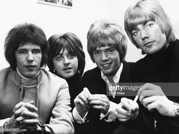 Portrait of the band 'Gary Walker and the Rain' Gary Walker Joey Molland Paul Crane and John Lawson circa 1967
