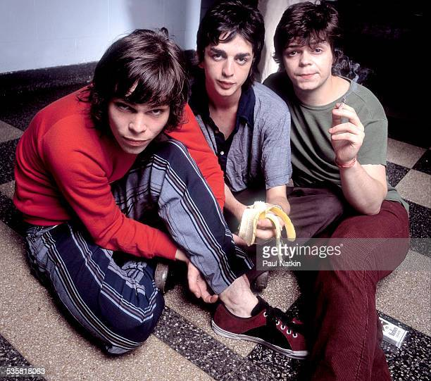 Portrait of the band Supergrass, Chicago, Illinois, July 14, 1995.