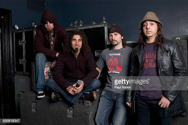 Portrait of the band System of a Down at the Metro Chicago Illinois May 3 2005