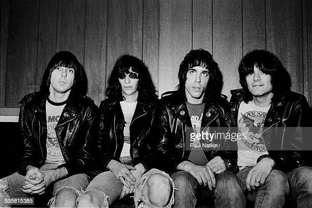 Portrait of the band the Ramones at the Aragon Ballroom Chicago Illinois October 22 1977