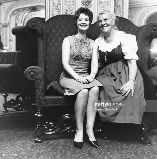 Portrait of the Baroness Maria Von Trapp and actress Paula Hendrix who is to star in the stage musical 'The Sound of Music' which is based on the...