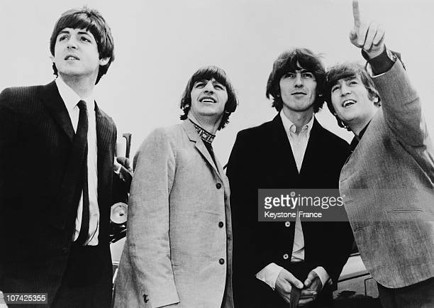 Portrait Of The Beatles Between Their Departure For The America At London In England On August 1965