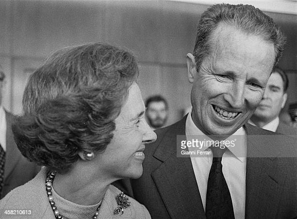 Portrait of the Belgian Royals Baudouin and Fabiola, 29th September 1978, Madrid, Spain. .
