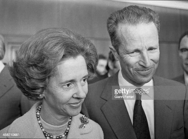 A portrait of the Belgian Royals Baudouin and Fabiola 29th September 1978 Madrid Spain