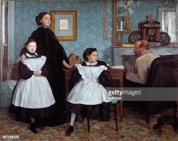 Portrait of the Bellelli Family Painting by Edgar Degas oil on canvas 1858 Orsay Museum Paris