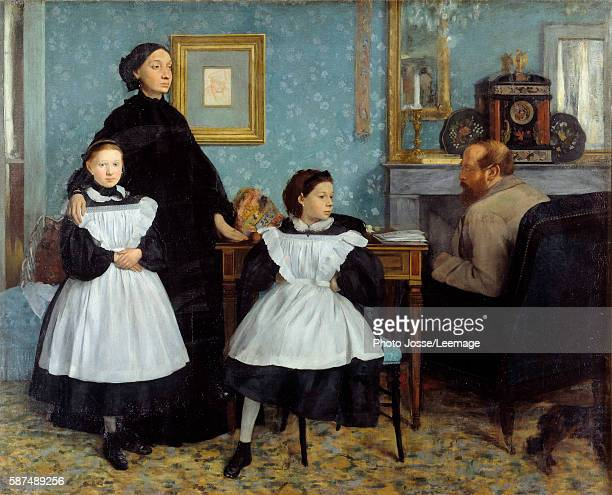 Portrait of the Bellelli family Painting by Edgar Degas oil on canvas 1858 Musee d'Orsay Paris France