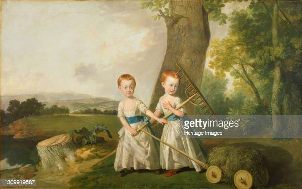 Portrait of the Blunt Children, 1766-80. Exhibited in 'Too Cute!: Sweet is About to get Sinister' 26 Jan - 12 May 2019. Artist Johan Zoffany. .