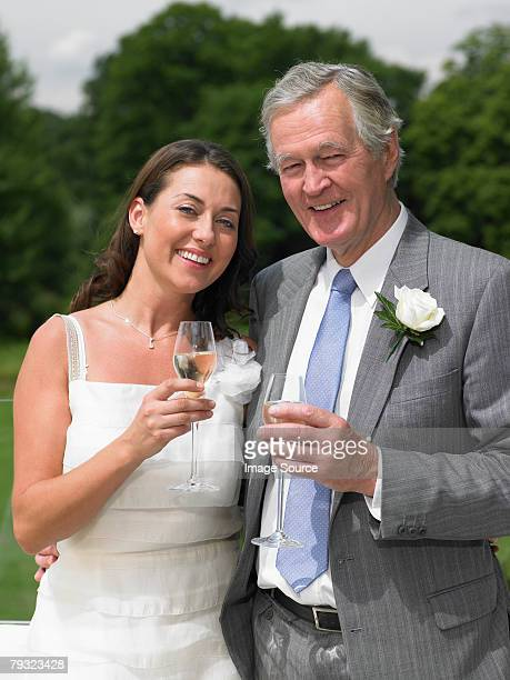 A portrait of the bride and her father