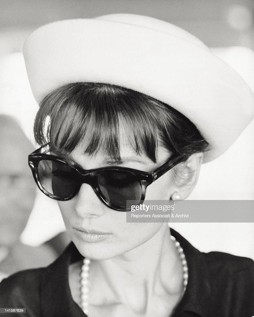 Portrait of the British actress Audrey Hepburn. Paris, July 1962