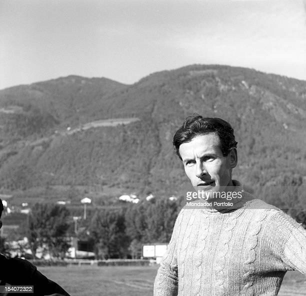 Portrait of the British colonel and aviator Peter Townsend. Merano, 1955