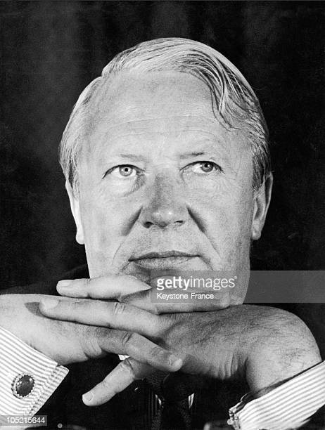 Portrait Of The British Conservative Prime Minister Edward Heath Around 1970