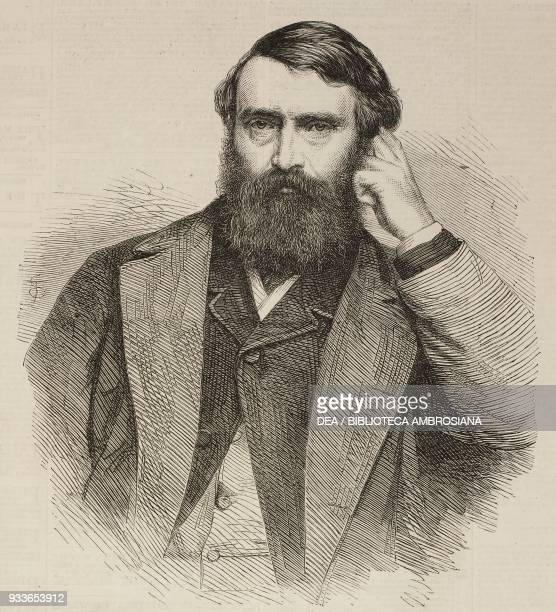 Portrait of the British literary critic and historian David Mather Masson illustration from the magazine The Illustrated London News volume XLVII...
