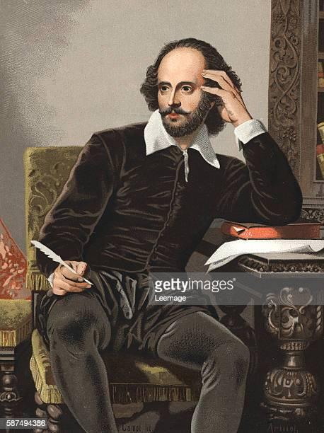 Portrait of the British playwright William Shakespeare