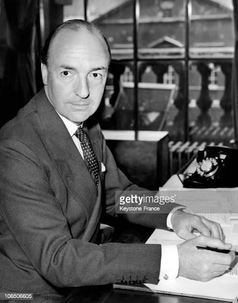 Portrait Of The British War Minister John Profumo On July 29 1960