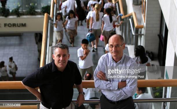 Portrait of the Canadian International School of Hong Kong's Head of School Dave McMaster and Upper School Principal John Jalsevac 11MAY12