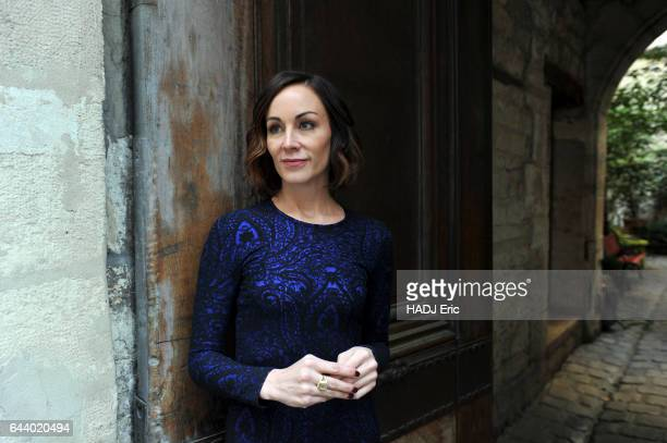 portrait of the canadian journalist Amanda Lindhout on january 2017 in Paris France