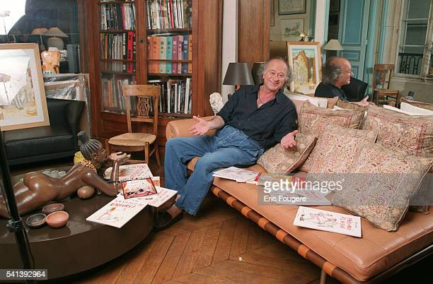Portrait of the cartoonist Georges Wolinski
