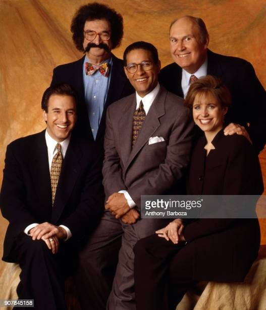 Portrait of the cast of NBC's Today show New York 1999 Pictured are from left Matt Lauer Gene Shalit Bryant Gumbel Willard Scott and Katie Couric