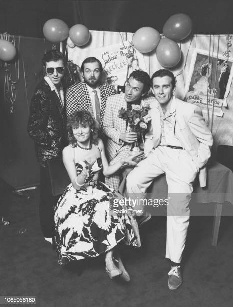 Portrait of the cast of the BBC Radio 2 show 'The Bouncing Czechs' January 1983