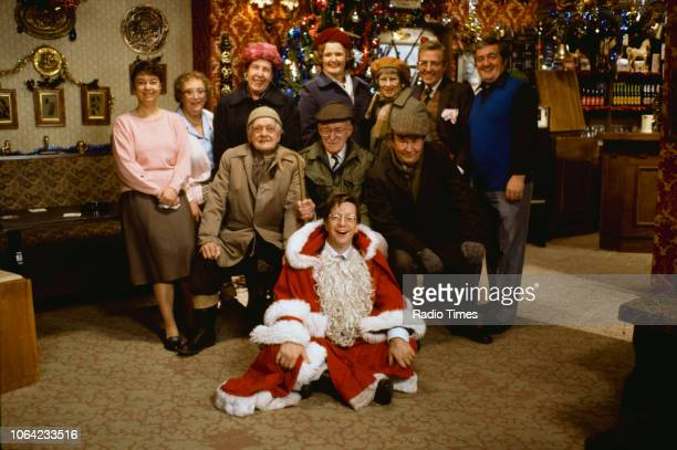 Portrait of the cast of the Christmas special episode 'Barry's Christmas' from the BBC television sitcom 'Last of the Summer Wine' Sarah Thomas Thora...