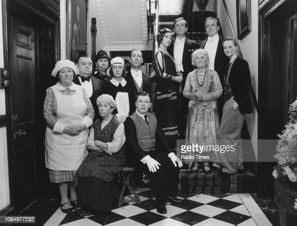 Portrait of the cast of the television sitcom 'You Rang M'Lord' Brenda Cowling Paul Shane Bill Pertwee Barbara New Su Pollard Jeffrey Holland Perry...