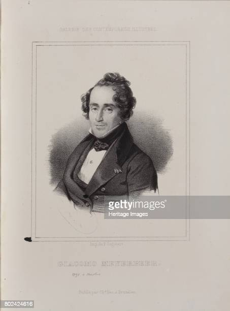 Portrait of the composer Giacomo Meyerbeer 1841 Found in the collection of I Turgenev Memorial Museum Moscow
