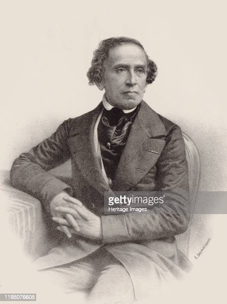 Portrait of the composer Giacomo Meyerbeer 1857 Private Collection Artist Desmaisons Émile