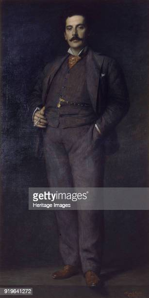 Portrait of the Composer Giacomo Puccini , 1902. Found in the Collection of Museo Nazionale di Palazzo Mansi.