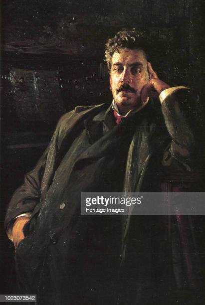 Portrait of the Composer Giacomo Puccini , 1903. Found in the Collection of Museo Nazionale di Palazzo Mansi, Lucca.