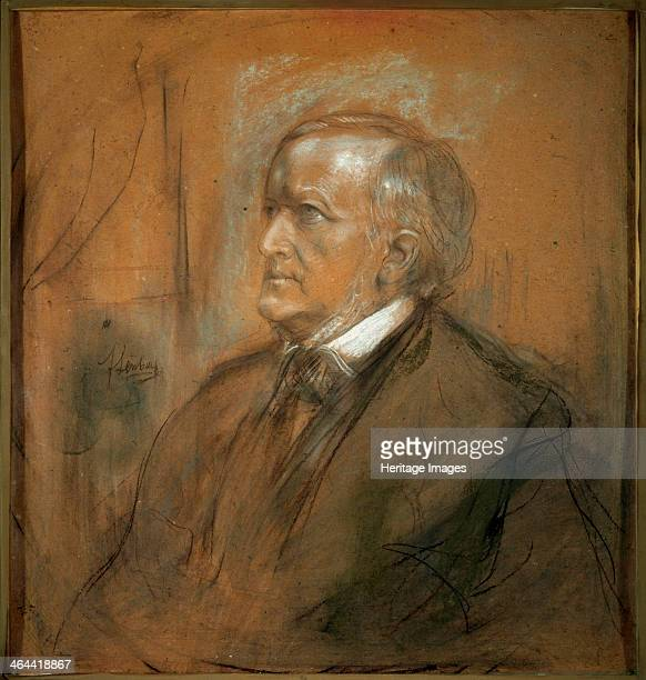 'Portrait of the composer Richard Wagner' 1868 Lenbach Franz von Found in the collection of the State A Pushkin Museum of Fine Arts Moscow